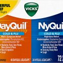 Vicks Dayquil and Nyquil Cough, Cold and Flu Relief, 72 LiquiCaps (48 Dayquil, 24 Nyquil) – Sore Throat, Fever, and Congestion Relief (Packaging May Vary)